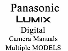 Lumix Panasonic  User Guide Instruction Manual (group 1)