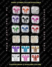 COLORFUL HEADPHONES EARPHONE HANDSFREE WITH MIC FOR IPHONE 6+ 5S 5C 4S IPAD IPOD