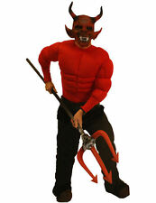 Adult Mens Red Devil Halloween Fancy Dress Costume Party Outfit