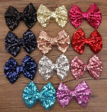 New Lovely Women Girl Bowknot Ribbon Hair Barrettes Hairpin Bow Head Band Clip