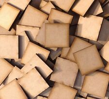 MDF Bases Square 3mm Thick Laser Cut Many Sizes FAST SHIPPING US SELLER