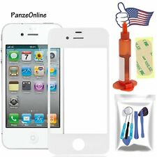 For iPhone 4&4S Outer Screen Glass Lens Replacement Tools Kit/UV Glue White AT&T