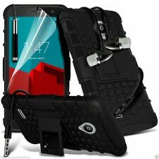 Shock Proof Dual Layer Heavy Duty Case Cover+Stereo Headphones for Alcatel