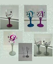 Personalised Glitter Wine Glass or Champagne Flute-gift wrapped