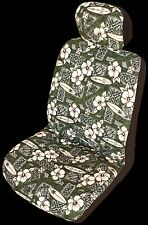 Green Hibiscus Surf Hawaiian Separate Headrest Cover