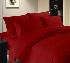 Hotel Bedding CollectionDuvet/Fitted/Flat 1000TC Egyptian Cotton Red Solid