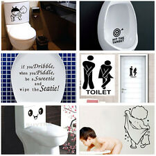 Durable Bathroom Toilet Decoration Seat Art Wall Stickers Decal Home Decor GD