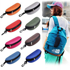 Practical Portable Zipper Eye Glasses Sunglasses Clam Shell Hard Case Protector
