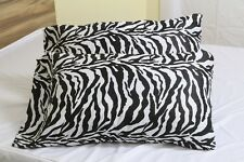 One Pair Pillow Case Egyptian Cotton Zebra Print 1000Thread Count For USA