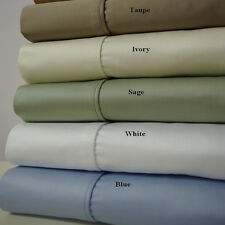 King Size 4PC Luxury 1200TC Solid Sheet set 100% Cotton Deep Pocket sheets