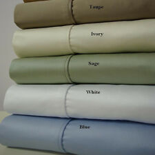 Cal-King Size 4PC Luxury 1200TC Solid Sheet set 100% Cotton Deep Pocket sheets