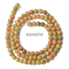 Natural Autumn Jasper Gemstone Round Loose Beads Strand Jewelry Making 4/6/8 mm