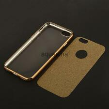 "Crystal Clear Plating Frame TPU Soft Silicone Case Cover for iPhone 4.7"" 5.5"""