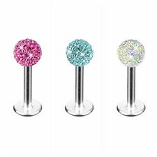 Lip Ear Rings Monroe Labret  Crystal Ball Piercing Stud Tragus Bar for Women