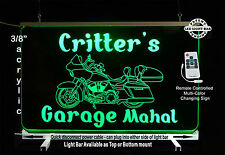 Personalized Motorcycle LED Man Cave Sign- Garage Sigh, Bar sign, multi-color