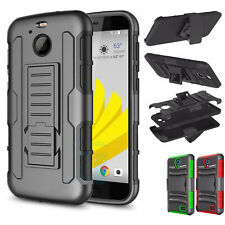 For HTC Bolt / HTC 10 evo Case Hybrid Shockproof Rugged Belt Clip Holster Stand