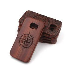 Wooden Bamboo Carving Hard Back Cover Cases For Samsung Galaxy Series Phones