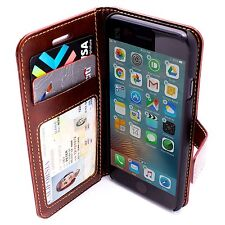 LOHA Leather Textured iPhone 7 Wallet Flip Case w Magnetic Clip in Black / Brown