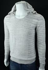 Armani Exchange A|X Mens Heathered Hooded Pullover Sweater Gray NWT