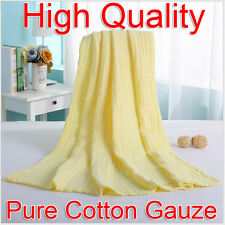 Yellow 95x120cm Baby Soft Comfortable Pure Cotton Gauze Bath Towel Breathable