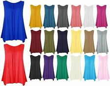 New Ladies Womens Girls Sleeveless Camisole T Tank Shirt Tee Tops Plain Vest TOP