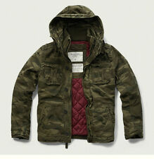 Mens Genuine Abercrombie & Fitch Quilted Hoodie Camo Jacket Size M, L, NWT