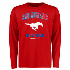 SMU Mustangs Red Campus Icon Long Sleeve T-Shirt - College