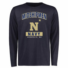 Navy Midshipmen Navy Campus Icon Long Sleeve T-Shirt