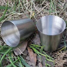Durable Mini Travel Camping Whisky Wine Flask Kit Stainless Steel Cup 1oz