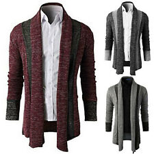 Mens Fashion Knitted Cardigan Jacket Slim Long Sleeve Casual Sweater Coat