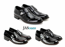 Mens New Shoes Italian Smart Shiny Lace Up Leather Wedding Office Slip On Size