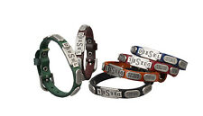 Genuine Leather Bracelet Men Women Cuff Charm Bracelet Leather Wristband SLD095