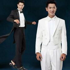 Mens Party Costume Blazers Suit Jacket&Pants Wedding swallow-tailed Dress Coats