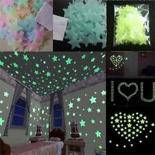 Room Home Decal Wall Stickers Glow In The Dark Stars 3D Light Ceiling Decor