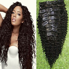 9pcs Virgin Brazilian Hair Curly Clip In Hair Extensions