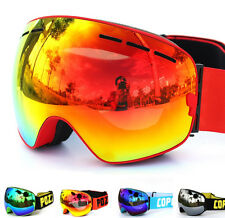 Skiing Snowboarding Double Layers Mask Anti-fog UV Snow Ski Goggles Glasses