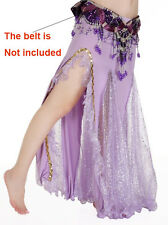 Cheap Sale Clearance Shinning Belly Dance Costumes Skirt Side Slit