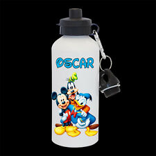 Personalised Mickey Mouse, Donald Duck and Pluto Water Bottle, drink bottle