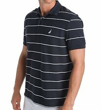 K42051 Nautica Mens Short Sleeve Stripe Deck Polo- Choose SZ/Color.