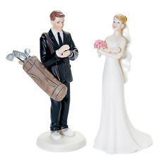 Golf Groom Impatient Bride Wedding Cake Top Topper Choice of Hair Colors