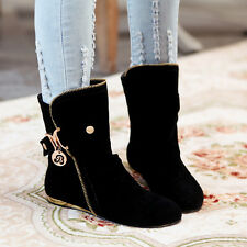 Womens Flat ANkle Boot Buckle Tassel Metal Slouch Casual Roma SHoes Plus Size