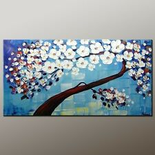 Handmade Modern Wall Art Canvas Abstract Impressionism Oil Painting (+ framed )