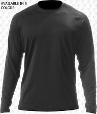 A4 Adult Cold Weather Long Sleeve Shirt, Semi Loose, Cold Gear Black, White, Red