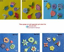 Assorted Flowers Mix - HANDMADE, CERAMIC MOSAIC TILES ( Pick you Group ) #13