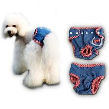 Female Dog Pet Cotton Grid Physiological Diaper Sanitary Pants Underwear S/M/L