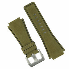 B & R Bands Olive Sierra Sueded Leather Bell & Ross Watch Strap Band BR01 BR03