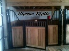 Classic Horse Stall Fronts Include Wood, Door, Track, and All Harware