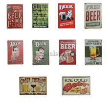 Retro Metal Tin Sign Plaque Vintage Picture Sheet Bar Pub Man Cave Beer Pattern