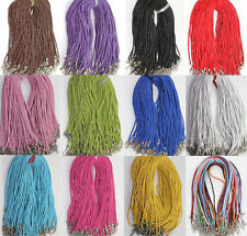 Leather Braid Rope Hemp Cord Lobster Clasp Chain Necklace Jewelry Wholesale 2.0