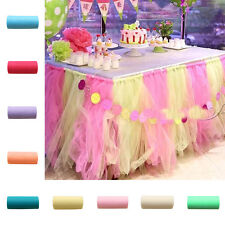 Sheer Organza Table Runner Wedding Bridal Party Banquet Decor Bow Swag 22mX15cm